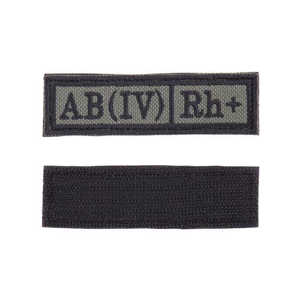 Шеврон Группа крови AB (IV) Rh+ прямоугольник 2,5х9 см олива/черный - фото 10001