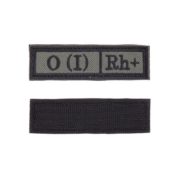 Шеврон Группа крови О (I) Rh+ прямоугольник 2,5х9 см олива/черный - фото 10019