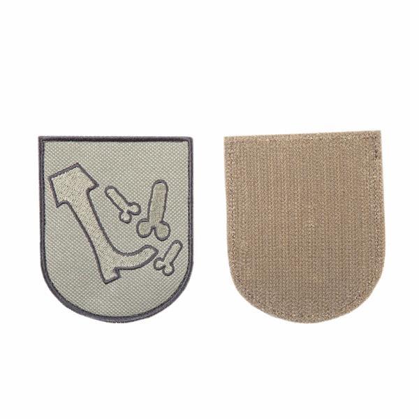 Шеврон KE Tactical Жизненная позиция 7х8,5 см олива/черный - фото 10024