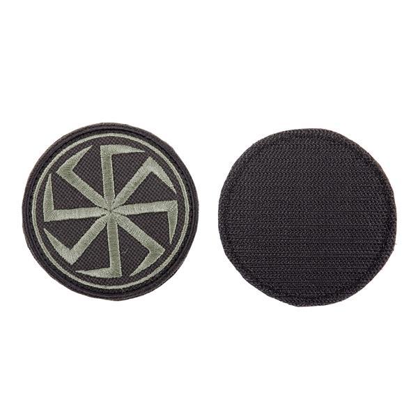 Шеврон KE Tactical Коловрат круглый 7 см черный/олива - фото 10038