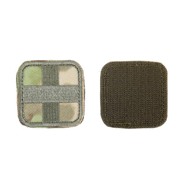 Шеврон KE Tactical Медицинский крест квадрат 5 см мох/олива - фото 10043