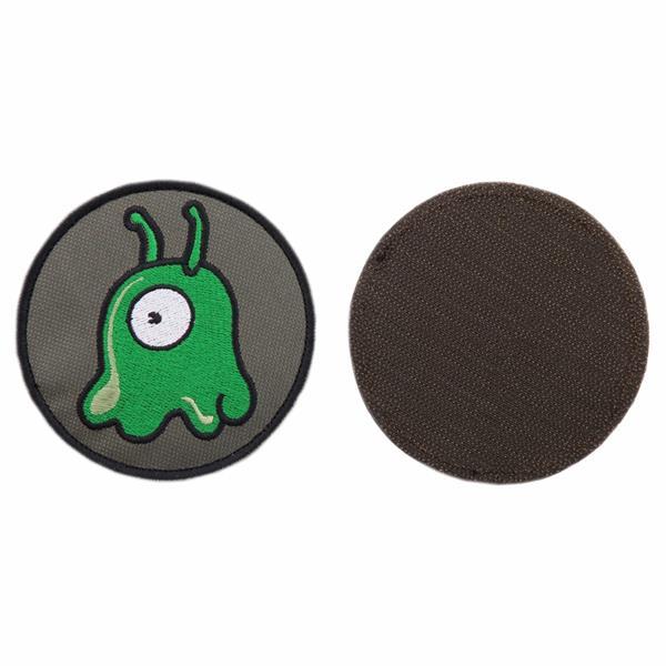 Шеврон KE Tactical Мозговой слизень круглый 9 см олива/зеленый/белый - фото 10052