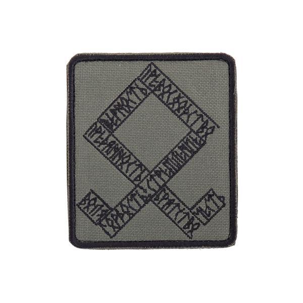 Шеврон KE Tactical Одал прямоугольник 8х9,5 см олива/черный - фото 10064