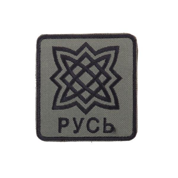 Шеврон KE Tactical Русь прямоугольник 8х8,5 см олива/черный - фото 10087