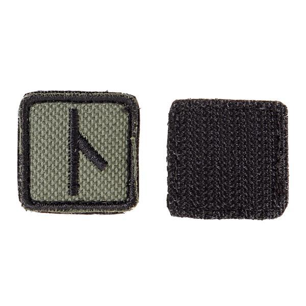 Шеврон KE Tactical Славянская руна Нужда квадрат 2,5 см олива/черный - фото 10117