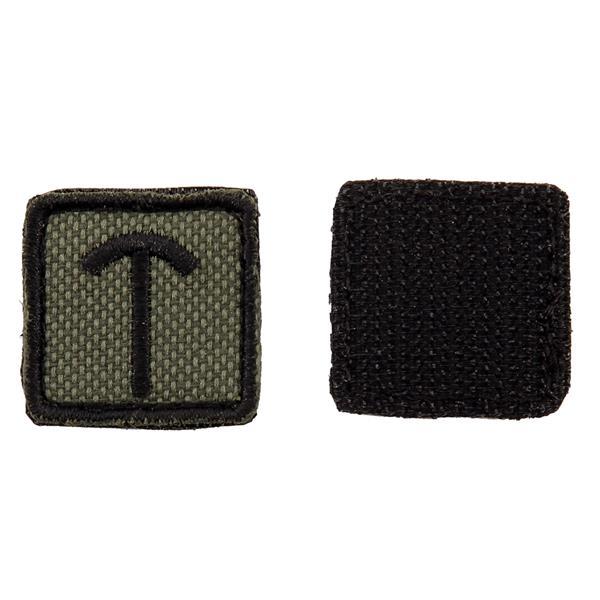 Шеврон Славянская руна Треба квадрат 2,5 см олива/черный - фото 10129