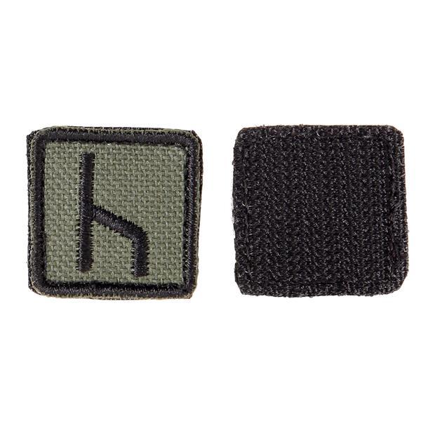 Шеврон KE Tactical Славянская руна Уд квадрат 2,5 см олива/черный - фото 10131