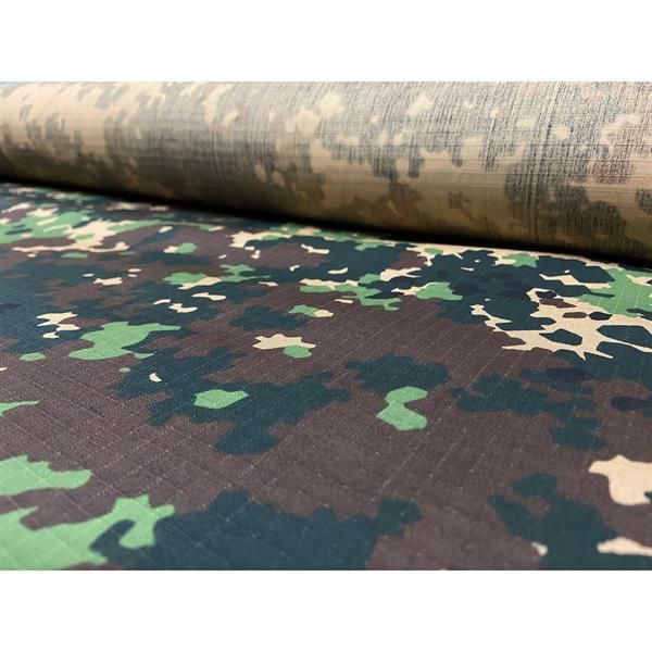 Ткань Fabrics рип-стоп 50% пэ 50% хлопок 240 г/м кв излом - фото 11112