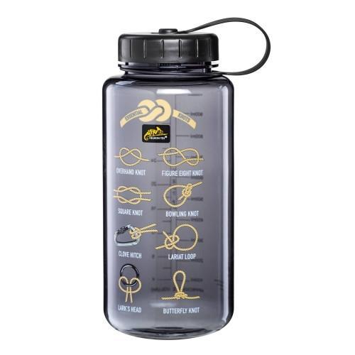 Бутылка Helikon Tritan Bottle Wide Mouth Knots 1 литр, серая - фото 11118
