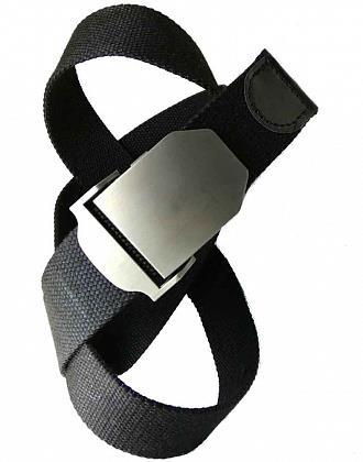 Ремень КМФ78 плетеный 3.7 см черный - фото 11183