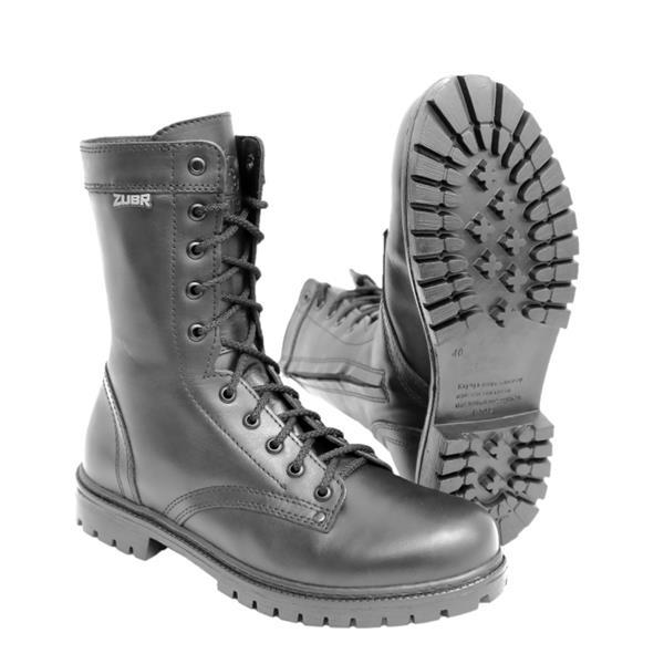 Ботинки Зубр Трек м. 825 шерсть на молнии черные - фото 11384