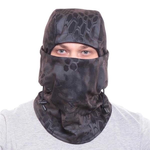 Балаклава-маска Keotica мембрана на флисе черный питон - фото 11966