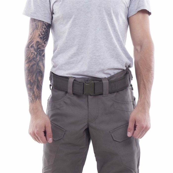 "Ремень KE Tactical с застежкой на фастекс Apri 50 мм олива темная модель 2. из материала ""Кордон-500"" - фото 12142"
