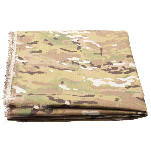 Ткань Fabrics рип-стоп 50% пэ 50% хлопок 240 г/м кв multicam - фото 12583