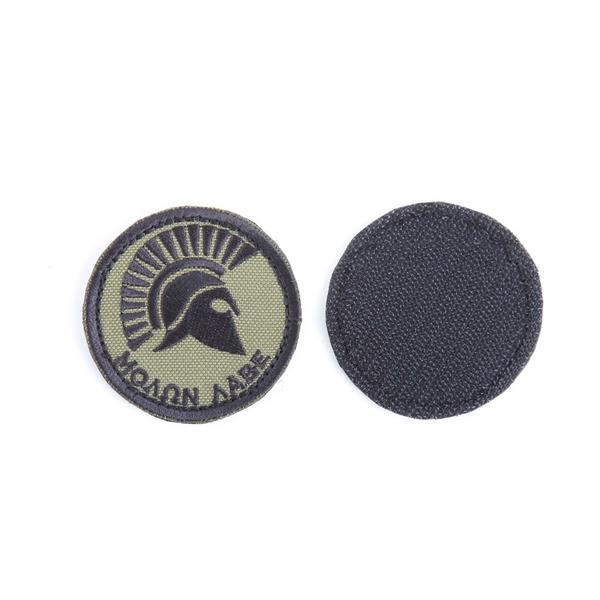 Шеврон KE Tactical Приди и возьми круглый 6 см олива/черный - фото 12745