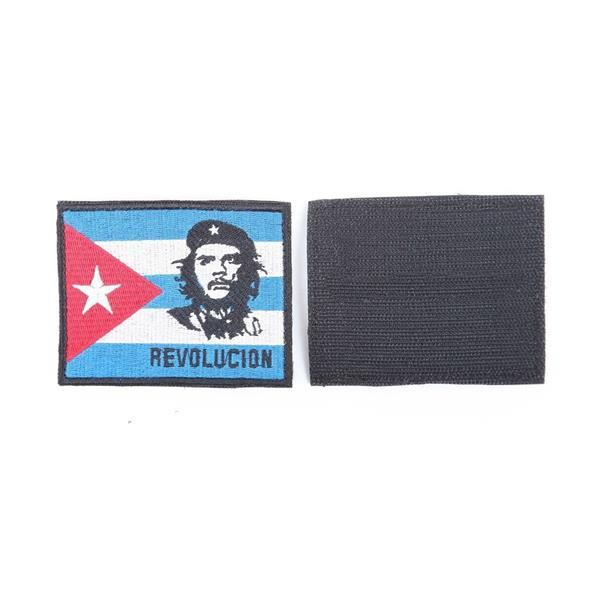 Шеврон KE Tactical флаг Чегевара прямоугольный 9х7 см синий/белый/красный - фото 12747