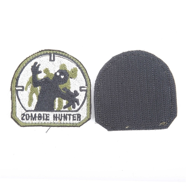 Шеврон KE Tactical Zombie Hunter 6х6 см олива/черный/белый - фото 12750