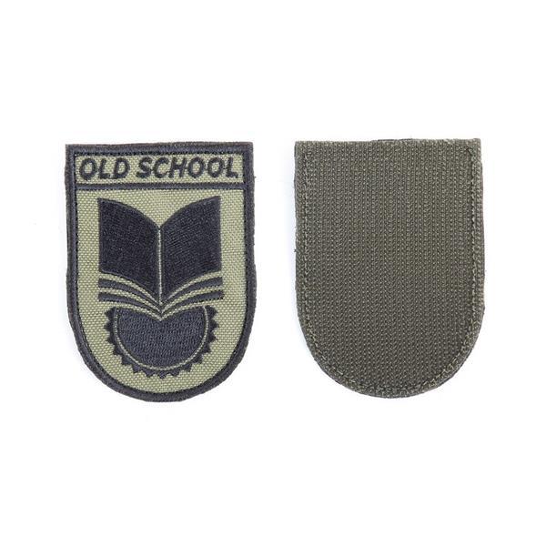 Шеврон KE Tactical Old School 6х8 см олива/черный - фото 12884
