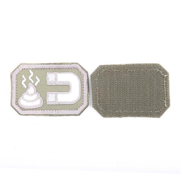 Шеврон KE Tactical Магнит прямоугольник 4х6 см олива/белый - фото 12911