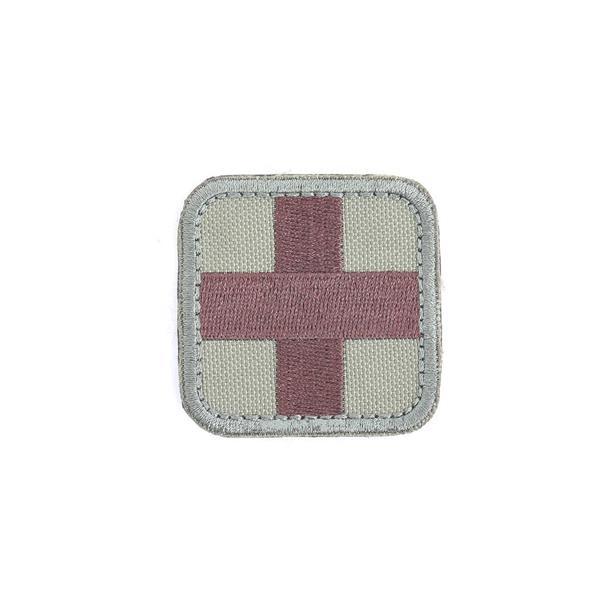 Шеврон KE Tactical Медицинский крест квадрат 5 см олива/коричневый - фото 12916