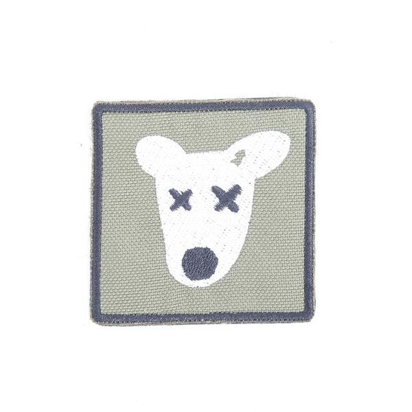 Шеврон KE Tactical Собака квадрат 6 см олива - фото 12973