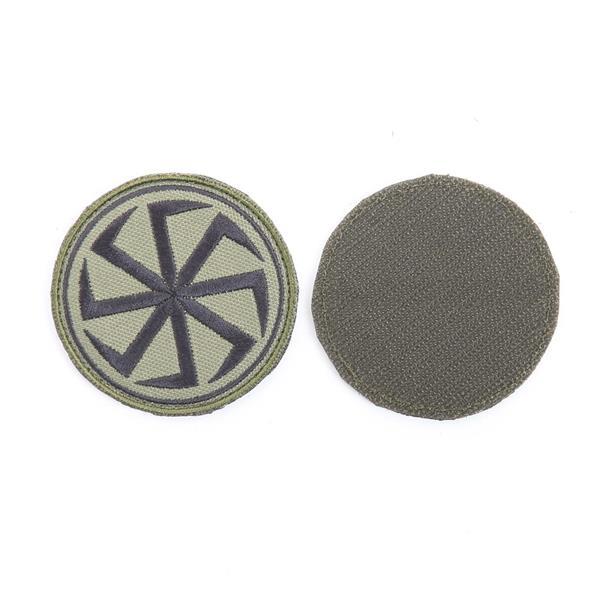 Шеврон KE Tactical Коловрат круглый 7 см олива/черный - фото 13075