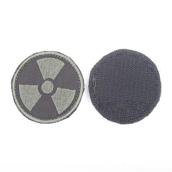 Шеврон KE Tactical Радиация круглый 5 см черный/олива - фото 13084