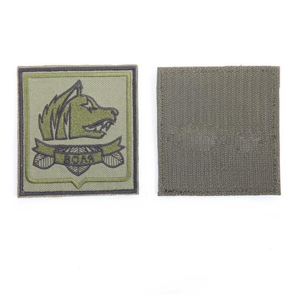Шеврон Воля прямоугольник 8,5х9 см олива/черный - фото 13086