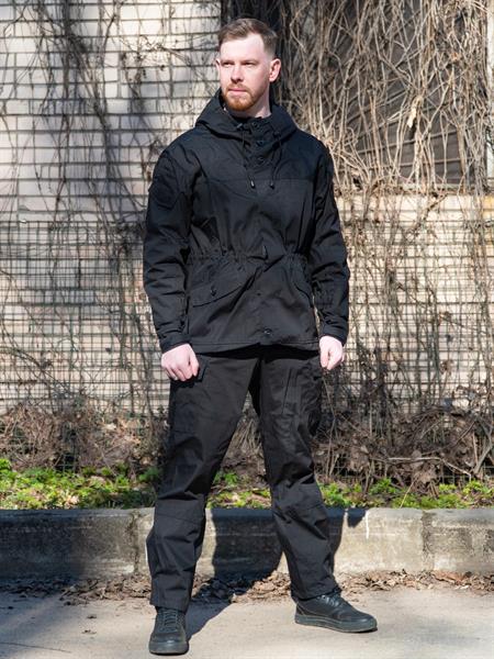 Костюм KE Tactical Горка-3 рип-стоп черная - фото 13333