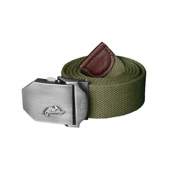 Ремень брючный Helikon Logo Belt Polyester, Olive Green - фото 13554