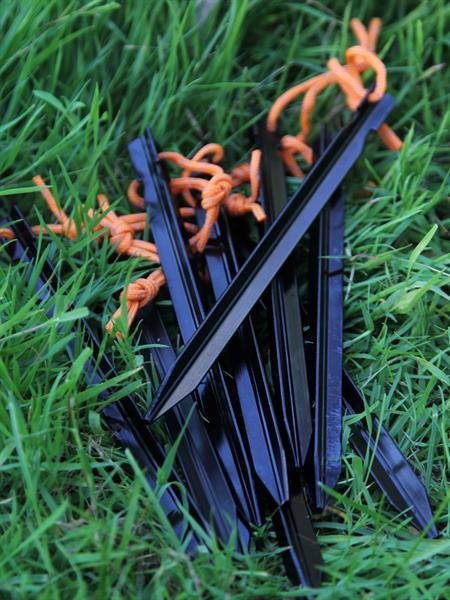 Колышки КМФ78 трехгранные 10 шт черные - фото 13752