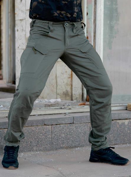 Брюки Keotica TAC-U тактические городские 97% хлопок 3% спандекс олива - фото 13802
