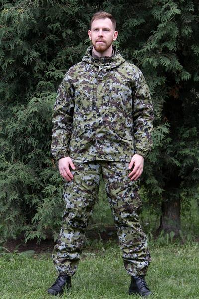 Костюм KE Tactical Горка рип-стоп на флисе пограничная цифра - фото 14046