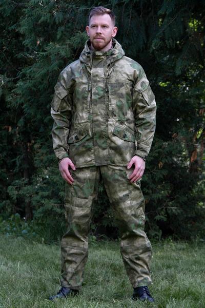 Костюм KE Tactical Горка-5 со съемной флисовой жилеткой рип-стоп с налокотниками и наколенниками мох - фото 14129