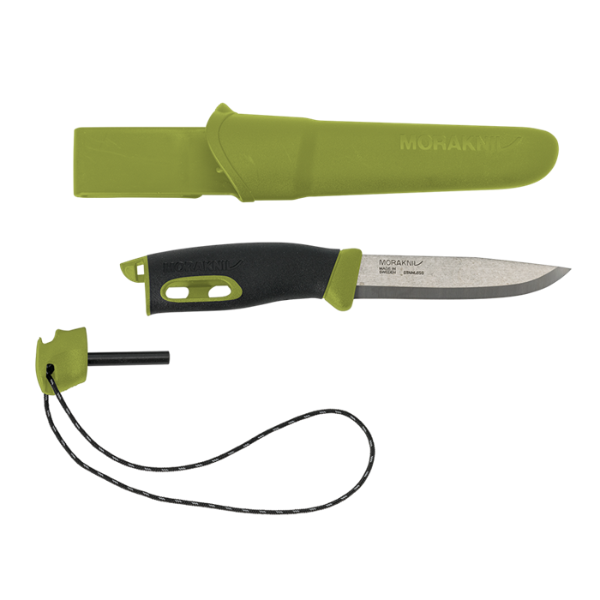 Нож Morakniv Companion Spark (S) Green, нержавеющая сталь, 13570 - фото 6287