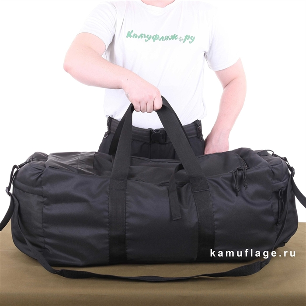 Баул KE Tactical Tour 80л Polyamide 500 Den черный - фото 7301