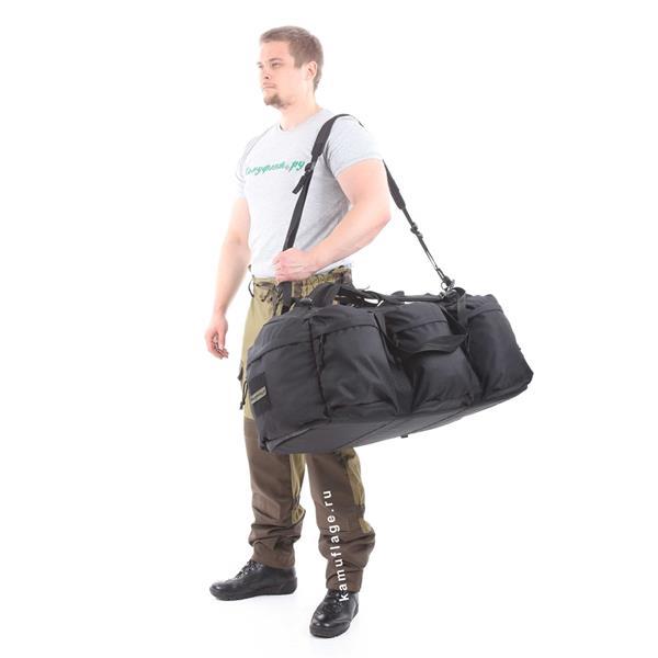 Баул-рюкзак KE Tactical Grand Tour 100л Polyamide 500 Den черный - фото 7347