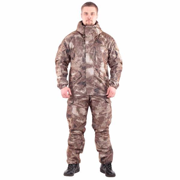 Костюм KE Tactical Горка мембрана на флисе мох коричневый - фото 7705