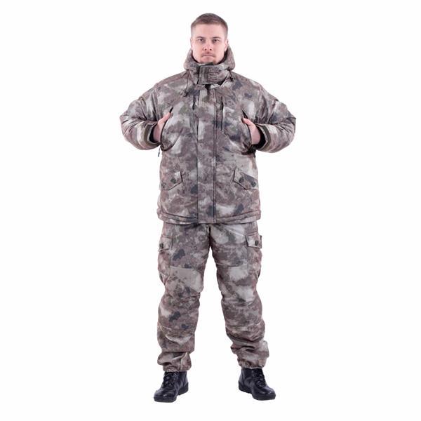 Костюм KE Tactical Горка-Зима мембрана мох коричневый - фото 8593