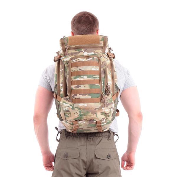 Рюкзак KE Tactical Sturm 40л Polyamide 1000 Den multicam со стропами coyote, велкро coyote - фото 9680