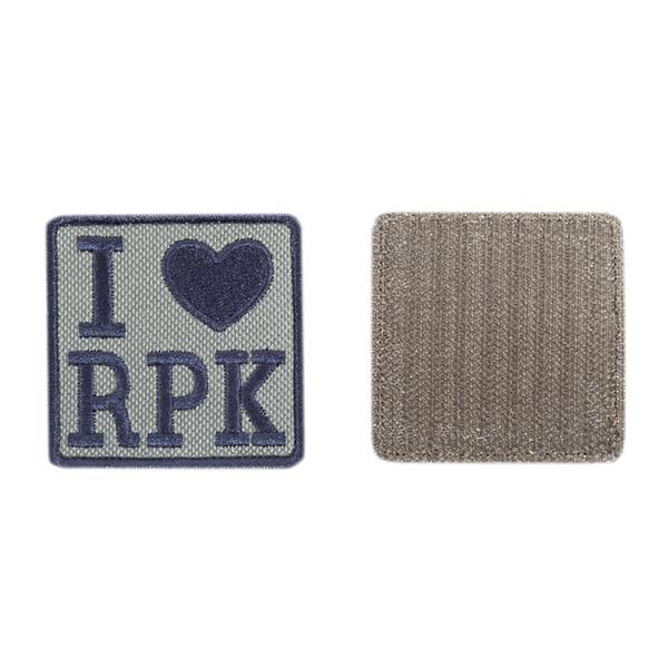 Шеврон KE Tactical I Love RPK квадрат 6 см олива/черный - фото 9940