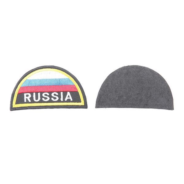 Шеврон KE Tactical Russia полукруглый 8х4,5 см триколор - фото 9947
