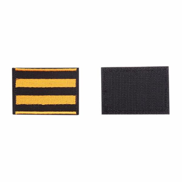 Шеврон KE Tactical Георгиевская лента прямоугольник 6х4,5 см черный/оранжевый - фото 9985