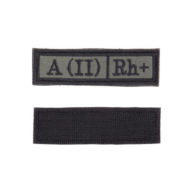 Шеврон Группа крови A (II) Rh+ прямоугольник 2,5х9 см олива/черный - фото 9992