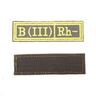 Шеврон KE Tactical Группа крови B (III) Rh- прямоугольник 2,5х9,5 см олива/желтый