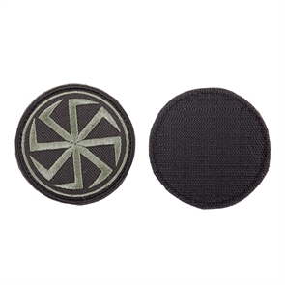 Шеврон KE Tactical Коловрат круглый 7 см черный/олива