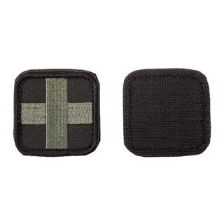 Шеврон KE Tactical Медицинский крест квадрат 5 см черный/олива