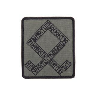 Шеврон KE Tactical Одал прямоугольник 8х9,5 см олива/черный