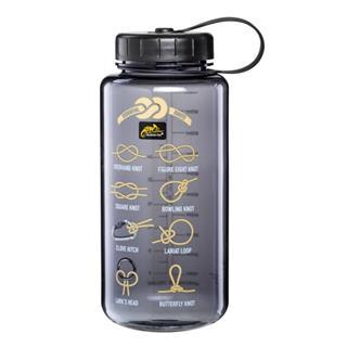 Бутылка Helikon Tritan Bottle Wide Mouth Knots 1 литр, серая