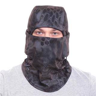Балаклава-маска Keotica мембрана на флисе черный питон